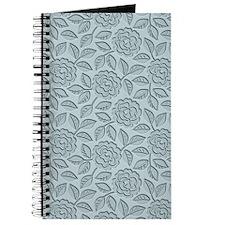 Engraved Roses - Pastel Blue Journal