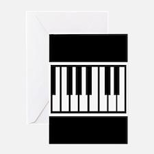 Midi Keyboard Musical Instrument Greeting Cards