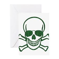 Internet Hacker Skull Greeting Cards