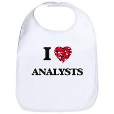 I Love Analysts Bib