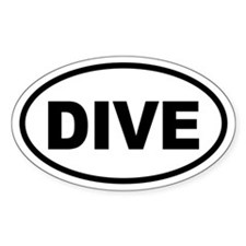 Basic Diving Oval Decal