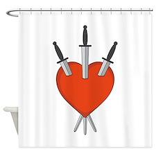 Three Of Swords Tarot Card Heart Symbol Shower Cur