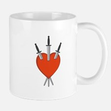 Three Of Swords Tarot Card Heart Symbol Mugs