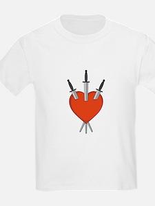 Three Of Swords Tarot Card Heart Symbol T-Shirt