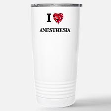 I Love Anesthesia Stainless Steel Travel Mug
