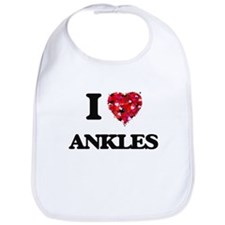 I Love Ankles Bib
