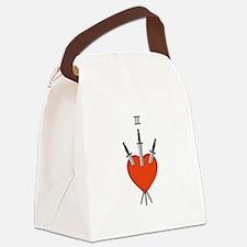 Heart Symbol Canvas Lunch Bag
