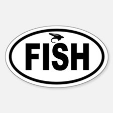 Fly Fishing Oval Decal