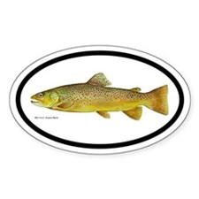 Trout Fishing Oval Decal