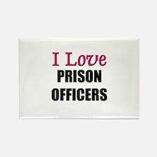 I Love PRISON OFFICERS Rectangle Magnet