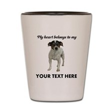 Custom Smooth Fox Terrier Shot Glass