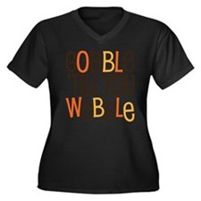 Unique Funny Gobble Til You Wobble Plus Size T-Shi