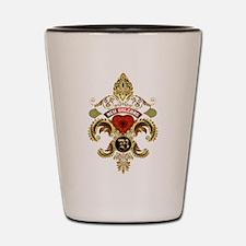 New Orleans Monogram B Shot Glass