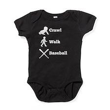 Crawl Walk Baseball Baby Bodysuit