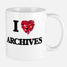 I Love Archives Mugs