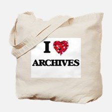 I Love Archives Tote Bag