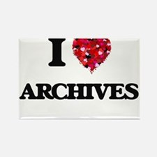 I Love Archives Magnets