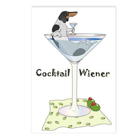 Piebald Cocktail Wiener Postcards (Package of 8)