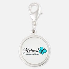 Retired Teal Black Butterfly Charms