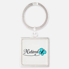 Retired Teal Black Butterfly Keychains