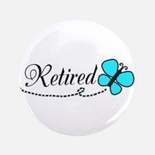 Retired Teal Black Butterfly Button