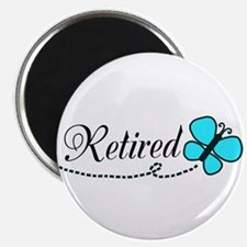Retired Teal Black Butterfly Magnets