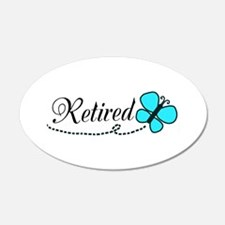 Retired Teal Black Butterfly Wall Decal