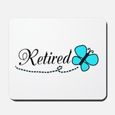 Retired Teal Black Butterfly Mousepad