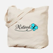 Retired Teal Black Butterfly Tote Bag