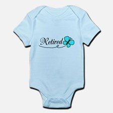 Retired Teal Black Butterfly Body Suit