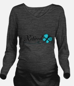 Retired Teal Black Butterfly Long Sleeve Maternity