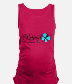 Retired Teal Black Butterfly Maternity Tank Top