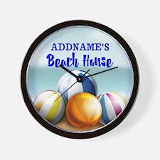 Personalized Beach Balls Beach House Wall Clock