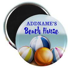 Personalized Beach Balls Beach House Magnet