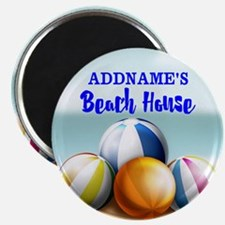 Personalized Beach Balls Beach House Magnet
