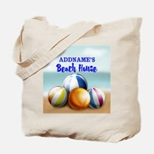 Personalized Beach Balls Beach House Tote Bag
