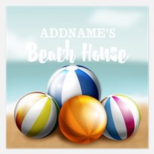 Beach House Perssonalized Invitations