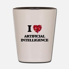 I Love Artificial Intelligence Shot Glass