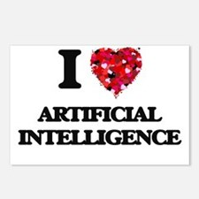 I Love Artificial Intelli Postcards (Package of 8)
