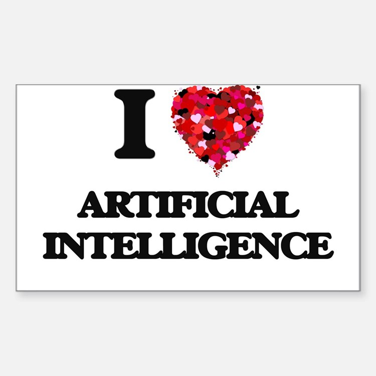 I Love Artificial Intelligence Decal