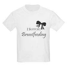 I support Breastfeeding Girls Onesie T-Shirt