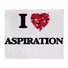 I Love Aspiration Throw Blanket