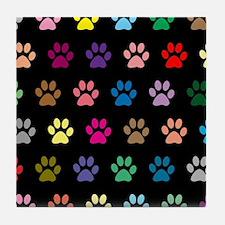 Unique Animal tracks Tile Coaster