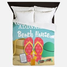 Tropical Paradise Beach House Personal Queen Duvet