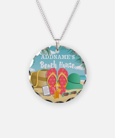 Tropical Paradise Beach Hous Necklace