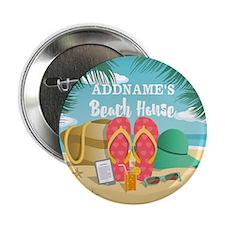 """Tropical Paradise Beach Hou 2.25"""" Button (10 pack)"""
