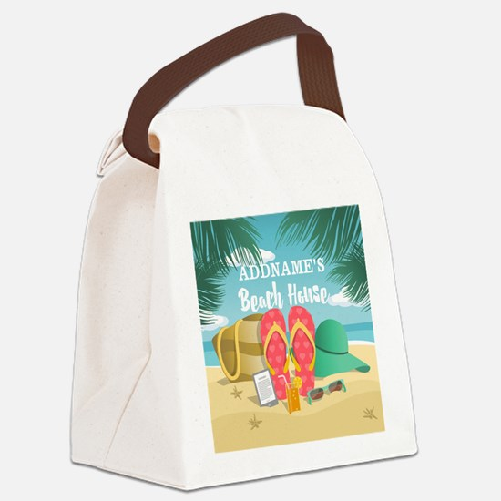 Tropical Paradise Beach House Per Canvas Lunch Bag