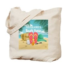 Tropical Paradise Beach House Personalize Tote Bag