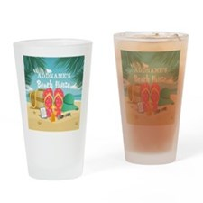 Tropical Paradise Beach House Perso Drinking Glass
