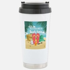 Tropical Paradise Beach Stainless Steel Travel Mug
